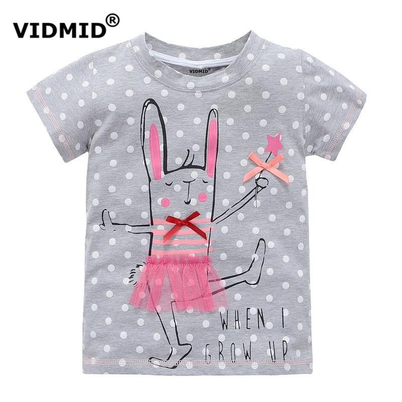 63bdaf3a VIDMID 2-10 years baby Girl t-shirt big Girls tees shirts children blouse  big sale super quality 100% cotton kids summer clothes | Cute Kids Clothing